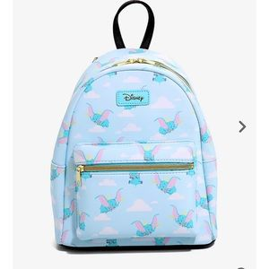 LOUNGEFLY DISNEY dumbo flying clouds mini backpack